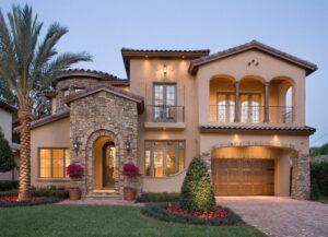 european style house